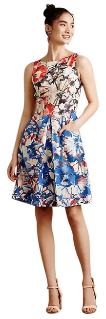 Preload https://img-static.tradesy.com/item/21467630/anthropologie-blue-red-donna-morgan-melia-mid-length-cocktail-dress-size-8-m-0-1-650-650.jpg