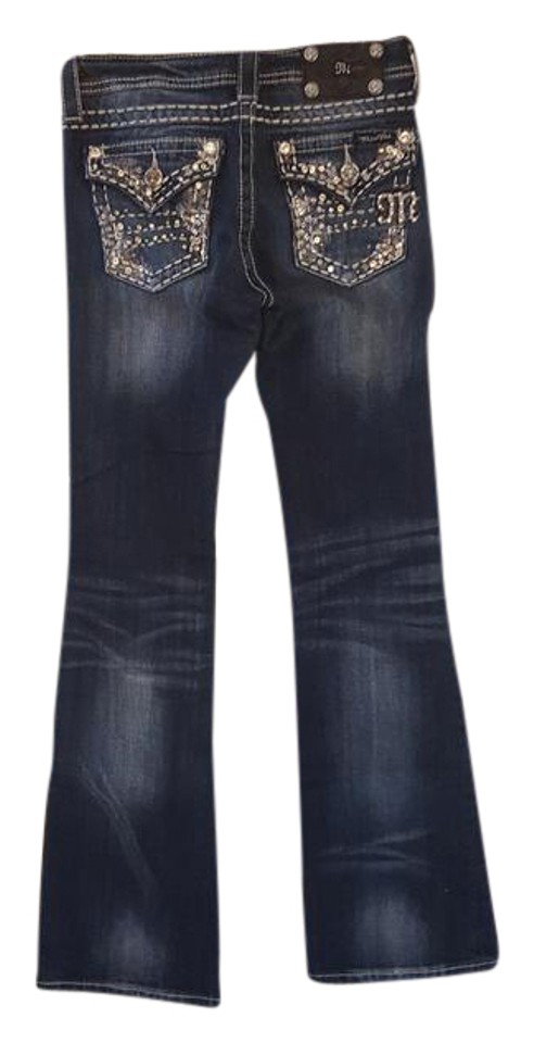 09dfacc6750 Miss Me Denim Medium Wash Ke5657b2j Boot Cut Jeans Size 26 (2, XS ...
