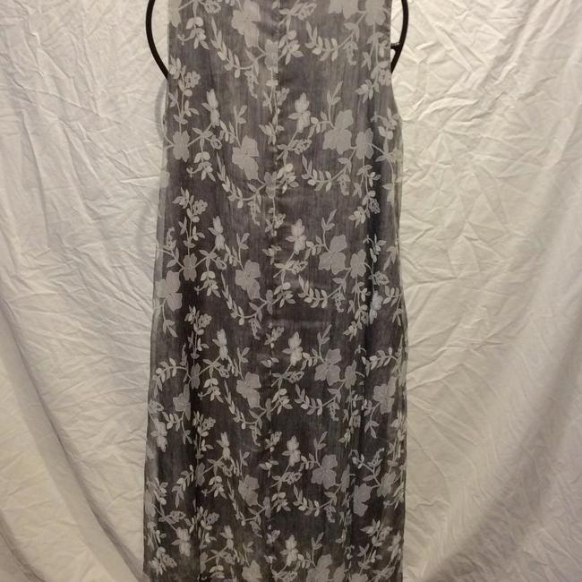 grey and white Maxi Dress by Zijue Image 2
