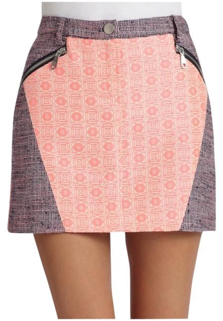 Rebecca Minkoff Mini Skirt Pink/Purple Image 0