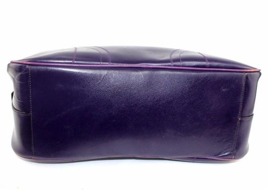 Prada Chrome Hardware Bowling Style Signature Piece Excellent Vintage Great Everyday Satchel in Purple Image 4