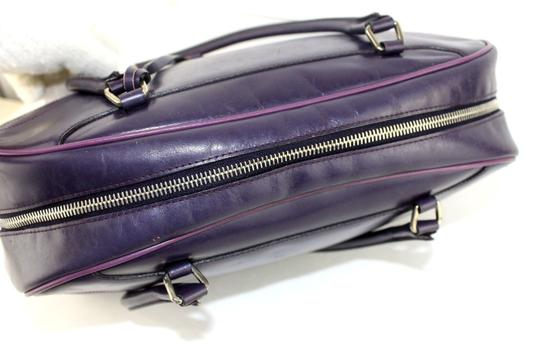 Prada Chrome Hardware Bowling Style Signature Piece Excellent Vintage Great Everyday Satchel in Purple Image 5