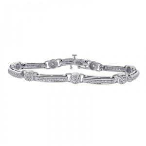 Avital & Co Jewelry 2.00 Carat Diamond Fancy Shaped Link Bracelet 14K White Gold