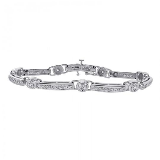 Preload https://img-static.tradesy.com/item/21468185/avital-and-co-jewelry-14k-white-gold-200-carat-diamond-fancy-shaped-link-bracelet-0-0-540-540.jpg