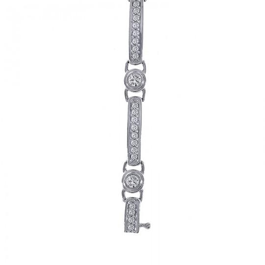 Avital & Co Jewelry 2.00 Carat Diamond Fancy Shaped Link Bracelet 14K White Gold Image 2
