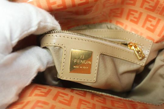 Fendi Bucket/Satchel Style Rare Color Combo Mint Vintage Wallet Available Great Pop Of Color Satchel in dark/light orange small F logo print coated canvas & ora leather Image 8