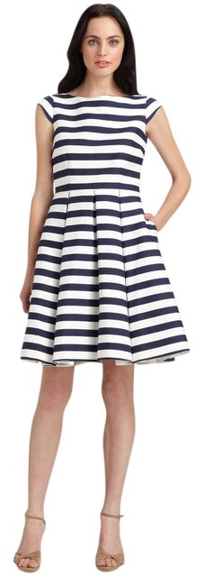 Kate Spade Blue Mariella Stripe Short Casual Dress Size 8 (M) Kate Spade Blue Mariella Stripe Short Casual Dress Size 8 (M) Image 1
