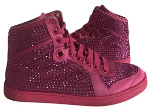 Gucci Crystal High Top Sneakers Pink Athletic