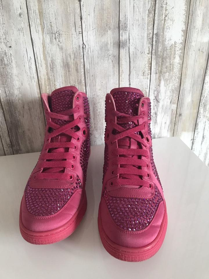 e410b5b9d Gucci Crystal High Top Sneakers Pink Athletic Image 10. 1234567891011