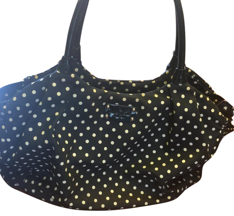 Kate Spade Black And White Polka Dot With Red Interior Diaper Bag