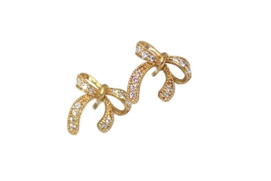 other 14K Yellow Gold (CZ) Screw back post Earring Image 2