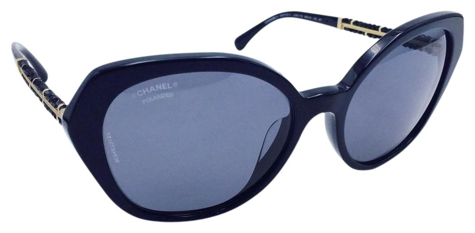 28468dfb3f46d Chanel Cat Eye Summer Collection Beaded Black Polarized Sunglasses 5375-B-A  Image 0 ...