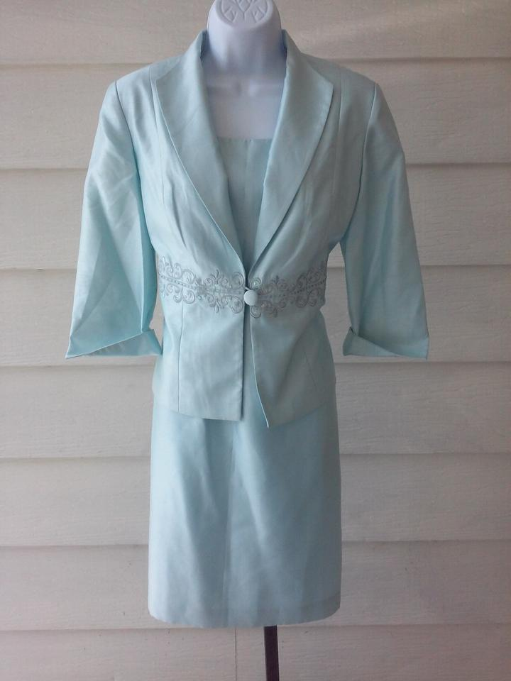 d8005611d83 Jessica Howard Light Blue Polyester Evening Jacket Mother Of Bride 12p  Formal Bridesmaid Mob Dress