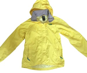The North Face Rain Waterproof Yellow with Blue Stitching Jacket