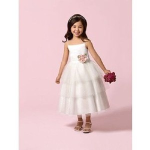 Alfred Angelo White Tulle Style 6617 6x-flowergirl/Holiday 928-43 Bridesmaid/Mob Dress Size 6 (S)