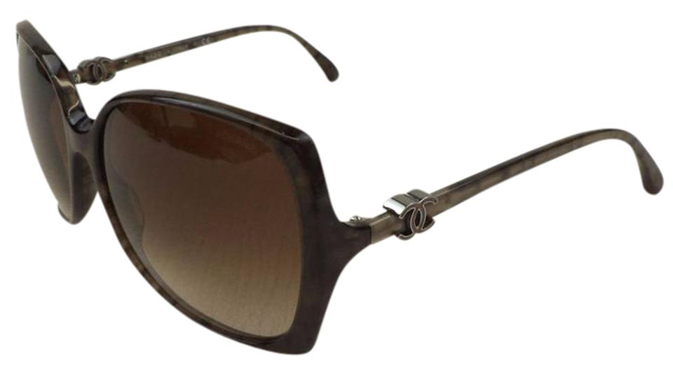 6af2488e14efb Chanel Chanel 5216 Marble Brown Over-sized Sunglasses Image 0 ...