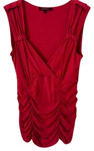 Nanette Lepore Ruched Sleeveless Top Dark Pink