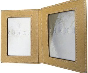 Gucci Yellow Gucci Leather Photo Wallet.