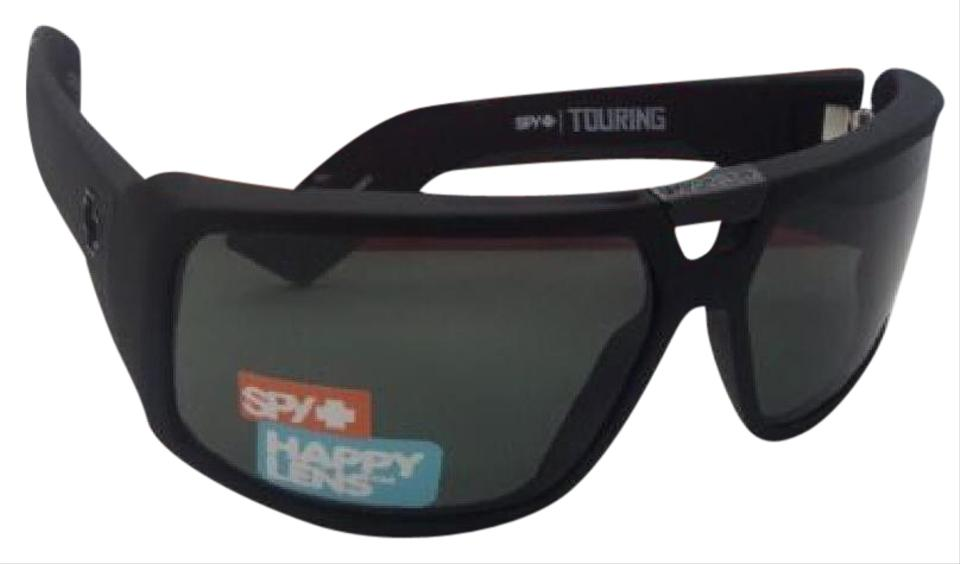 aa228ef95c Spy Touring Soft Matte Black Frame W  Happy Grey Green Lenses New Optic W   Sunglasses