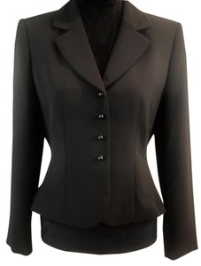 Tahari Evening Career Fitted black Jacket