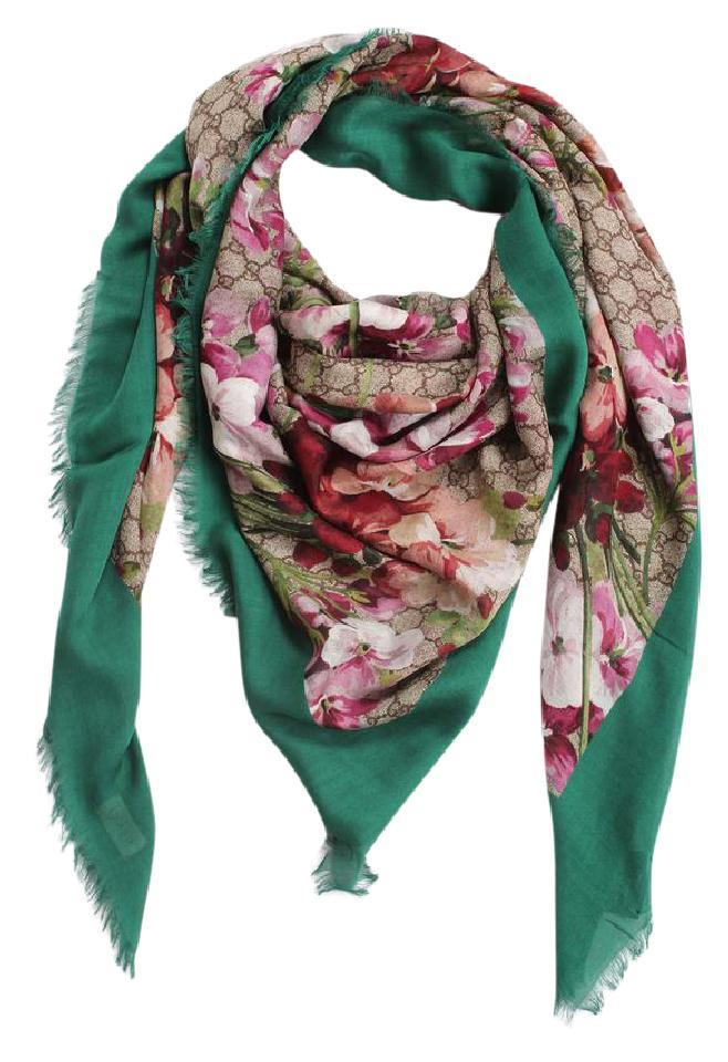 f09a32c01 Gucci Only 1 Left - BRAND NEW Modal Silk Blooms Print Shawl Image 0 ...