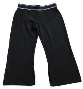 Jockey Jockey Sport Black Sport Crop Activewear Pants (Size Medium)