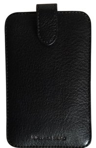 Michael Kors New!! black leather cell phone cover iPhone
