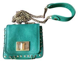 Emilio Pucci Leather Gold Hardware Studded Cross Body Bag