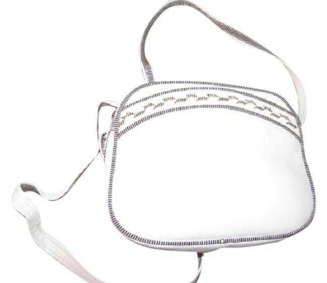 Item - Vintage Bags/Designer Purses White Leather with Black & White Piping Cross Body Bag