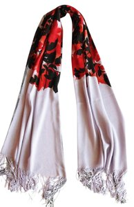 Etro NEW! Shawl Wrap Scarf Made in Italy Purple Red Black Large Long