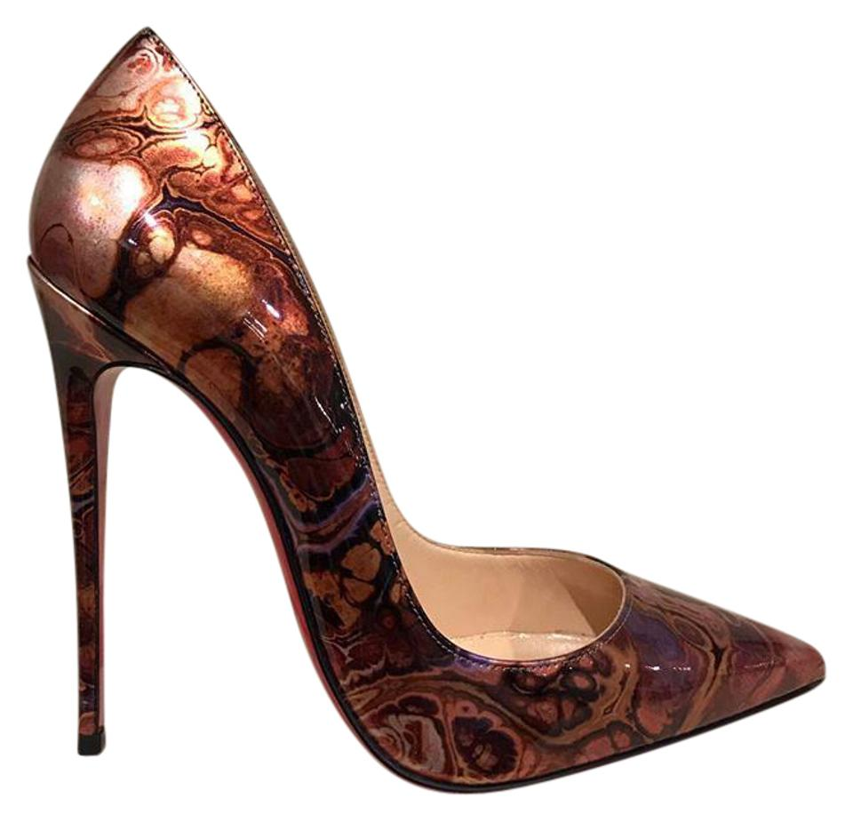 f4790db02e1 Christian Louboutin Brown So Kate 120 Saturne Patent Leather Heel 37 Pumps  Size US 7 Regular (M, B)