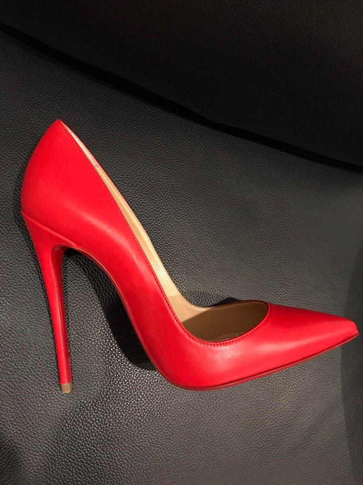 4cadc89f40c Christian Louboutin Red So Kate 120 Fraise Nappa Leather Heel 40 Pumps Size  US 10 Regular (M, B)