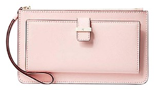 Kate Spade Leather Ceder Street Lacy sunset pink Clutch