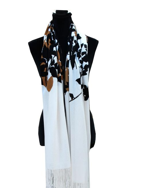 Item - Multi-color New Shawl Made Italy White Brown Black Large Long Scarf/Wrap