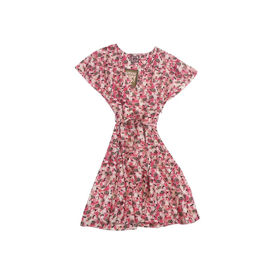 9890341d1ff Juicy Couture Multicolor Pink Floral Print Short Casual Dress Size 0 ...