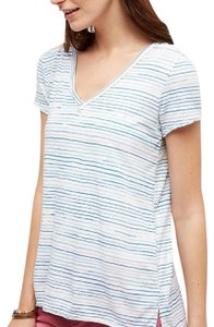Anthropologie Striped T Shirt Blue and White