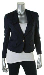 Juicy Couture Women's Jackets Women's Cropped Ponte Jacket Jacket Regal Blue and Black Blazer