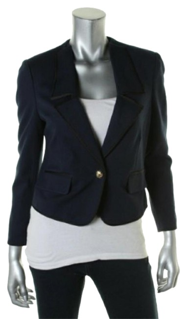 Preload https://img-static.tradesy.com/item/21472837/juicy-couture-regal-blue-and-black-ponte-jacket-blazer-size-12-l-0-1-650-650.jpg