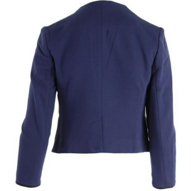 Juicy Couture Women's Jackets Women's Cropped Ponte Jacket Jacket Regal Blue and Black Blazer Image 2