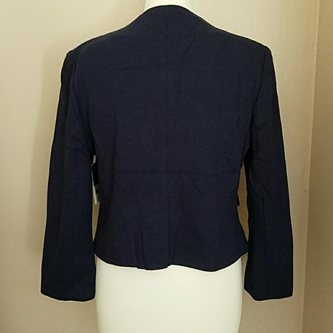 Juicy Couture Women's Jackets Women's Cropped Ponte Jacket Jacket Regal Blue and Black Blazer Image 5