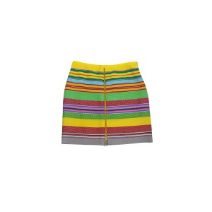 J. McLaughlin Color Striped With Front Zip Skirt Multi