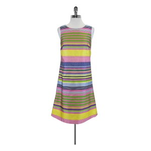 J. McLaughlin short dress Multi Printed Striped Color on Tradesy