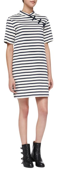 Marc by Marc Jacobs Marine Multi Jacquelyn Striped Short Casual Dress Size 2 (XS) Marc by Marc Jacobs Marine Multi Jacquelyn Striped Short Casual Dress Size 2 (XS) Image 1