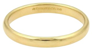 Tiffany & Co. 18k Yellow Gold 3mm Wide Plain Wedding Band