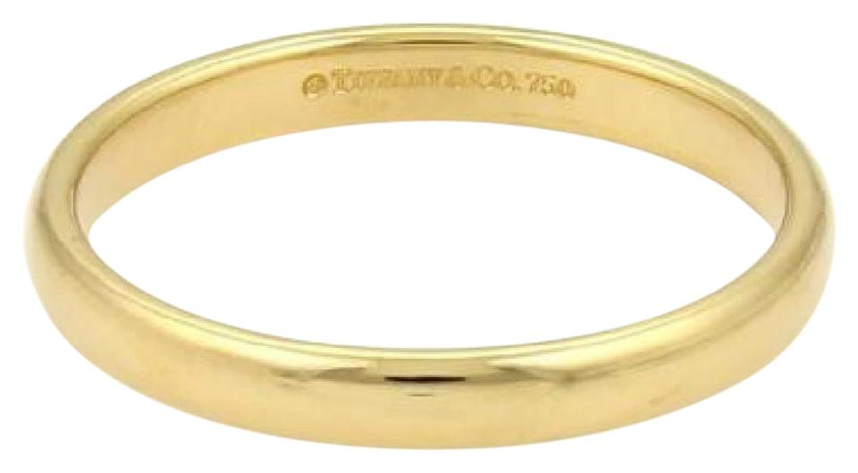 d4bf81ced8acb Tiffany & Co. Yellow Gold 3mm Wide Plain Wedding Band Ring