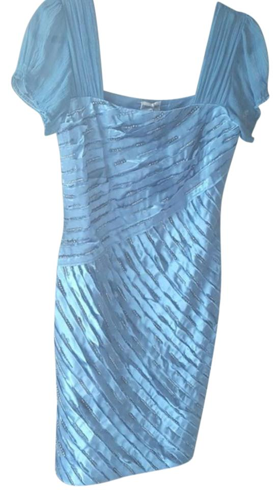 Philosophy di Alberta Ferretti Ocean Blue Saks Cocktail Dress Size 4 ...