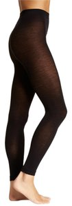 French Curve Cashmere Blend Black Leggings - S/M