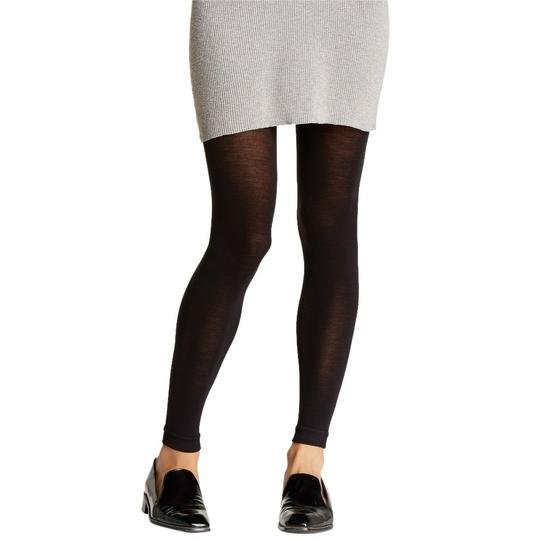 French Curve Cashmere Blend Black Leggings - S/M Image 1