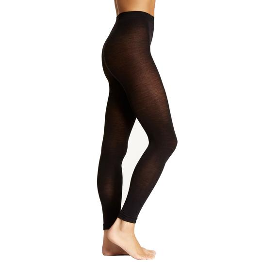 French Curve Cashmere Blend Black Leggings - S/M Image 2