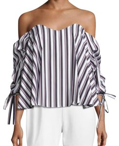 Caroline Constas Top black and white